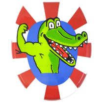 Bath Duck Wc-ülőke - Mdf - Mintás - Cink Zsanérokkal - Krokodil