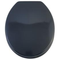 Bath Duck Wc-Ülőke - Mdf Színes - Műanyag Zsanérokkal - 4 Éjkék (Sötét Grafitos Kék)