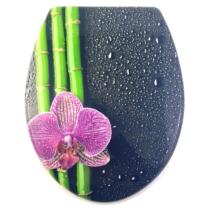 Bath Duck Wc-Ülőke - Mdf - Mintás - Műanyag Zsanérokkal - Bambuszvirág