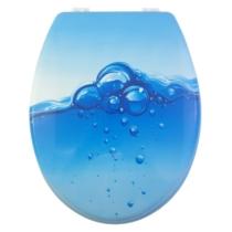 Bath Duck Wc-Ülőke - Mdf - Mintás - Műanyag Zsanérokkal - Buborék