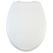 Bath Duck Wc-Ülőke - Fa - Fehér - Műanyag Zsanérokkal Fehér