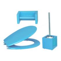Bath Duck Wc-Ülőke - Wc-Kefe Tartó - Wc-Papír Tartó - Kék