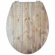 Bath Duck Wc-Ülőke - Mdf - Mintás - Rozsdamentes Acél Zsanérokkal - Board
