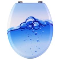 Bath Duck Wc-Ülőke - Mdf - Mintás  - Rozsdamentes Acél Zsanérokkal - Buborék