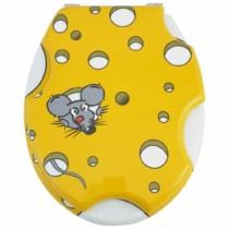 Bath Duck Wc-Ülőke - Mdf - Mintás - Rozsdamentes Acél Zsanérokkal - Cheese