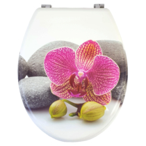 Bath Duck Wc-Ülőke - Mdf - Mintás - Rozsdamentes Acél Zsanérokkal - Orchid