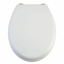 Bath Duck Wc-Ülőke - MDF - Rozsdamentes Acél Zsanérokkal - Fehér
