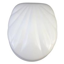 Bath Duck Wc-Ülőke - Mdf - Rozsdamentes Acél Zsanérokkal - Fehér Kagyló