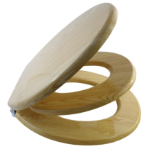 Bath Duck Wc-Ülőke - Családi - Gyermek És Felnőtt Használatra - Cink Zsanérokkal - MDF - Fa Hatású - 1