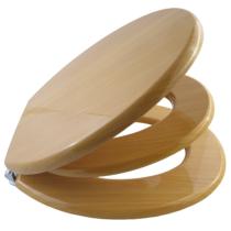 Bath Duck Wc-Ülőke - Családi - Gyermek És Felnőtt Használatra - Cink Zsanérokkal - MDF - Fa Hatású - 5