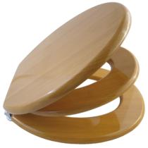 Bath Duck Wc-Ülőke - Családi - Gyermek És Felnőtt Használatra - Cink Zsanérokkal - MDF - Fa Hatású - 6