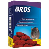 Bros Rágcsálóirtó Paraffinos Blokk, Mini Brikett 100g 29ppm