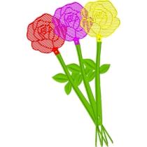 Bros Légycsapó Műanyag Virágforma