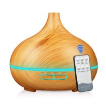 MyLike Aromaterápiás Diffúzor - L - Fa Hatású - Színváltós - Világosbarna - 400ml