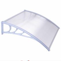 MyLike Műanyag előtető, 120 x 90 cm, transzparens, fehér színű fali tartóelemekkel
