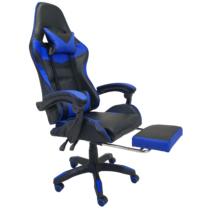 MyLike Gamer Szék - Pro - Fekete/Kék - Lábtartóval