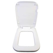 Bath Duck Wc-Ülőke - Kocka - Erősített Műanyag Zsanérokkal - Fehér - (Cube)