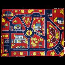 Magic Home Gyerekszőnyeg 134x180cm - Traffic - Red