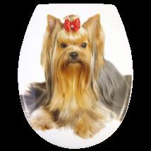 Wc-Ülőke - Rozsdamentes Acél Zsanérokkal - Yorkshire Terrier (Yorki)