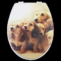 Bath Duck Wc-Ülőke - Mdf - Mintás - Műanyag Zsanérokkal - Kutya
