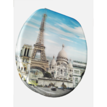 3D Wc-Ülőke - Mdf - Rozsdamentes Acél Zsanérokkal - Párizs