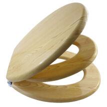 Bath Duck Wc-Ülőke - Családi - Gyermek És Felnőtt Használatra - Cink Zsanérokkal - MDF - Fa Hatású - 2