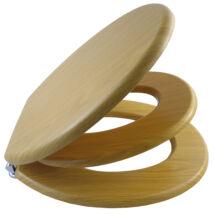Bath Duck Wc-Ülőke - Családi - Gyermek És Felnőtt Használatra - Cink Zsanérokkal - MDF - Fa Hatású - 3