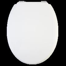 Wc-Ülőke - Mdf - Cink Zsanérokkal - Fehér