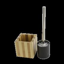 Bambusz Wc Kefe + Tartó