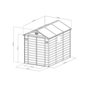 G21 Kerti Ház / Tároló - Műanyag - Szürke - 188x278cm (PAH 523)