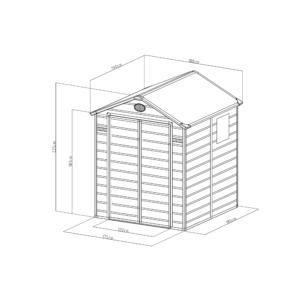 G21 Kerti Ház / Tároló - Műanyag - Szürke - 188x190cm (PAH 357)