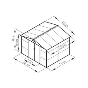 G21 Kerti Ház / Tároló - Fém - Barna - 277x255cm (GAH 706)