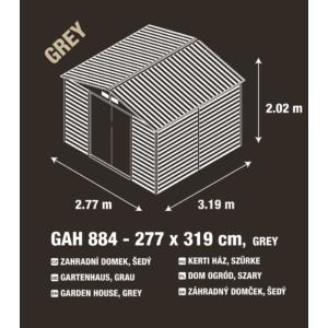 G21 Kerti Ház / Tároló - Fém - Szürke - 277x319cm (GAH 884)