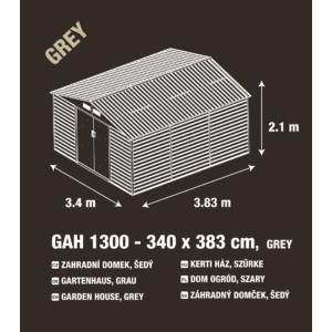 G21 Kerti Ház / Tároló - Fém - Szürke - 340x383cm (GAH 1300)