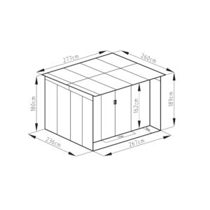 G21 Kerti Ház / Tároló - Fém - Szürke - 267x236cm (GBAH 720)