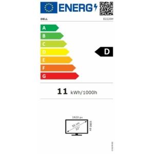 Dell Monitor LCD E2220H – 21.5 Black - Fekete