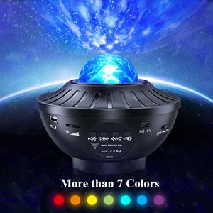 Galaxis Projector - Csillagos Ég Party Lámpa Távirányítóval + Bluethooth Hangszóróval