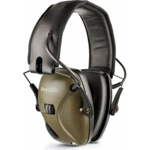 awesafe Electronic Lövés Fülvédő - Hallásvédelem Felvétele Zajcsökkentő Hangerősítéssel (zöld)