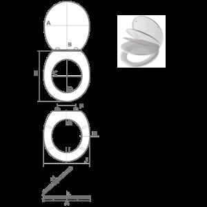 Bath Duck Wc-Ülőke - Easy Click - Soft Close - Lecsapódásmentes Zsanérokkal - Cica - 1