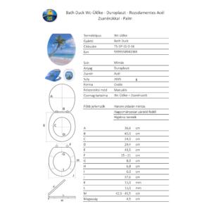 Bath Duck Wc-Ülőke - Duroplaszt - Rozsdamentes Acél Zsanérokkal - Palm