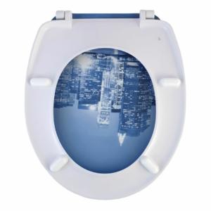 Bath Duck Wc-Ülőke - Duroplaszt - Rozsdamentes Acél Zsanérokkal - City