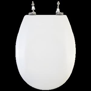 Bath Duck Wc-Ülőke - Rozsdamentes Acél Zsanérokkal - Fehér - Duroplaszt