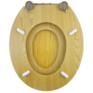 Bath Duck Wc-Ülőke - Családi - Gyermek És Felnőtt Használatra - Réz Zsanérokkal - MDF - Fa Hatású - 3
