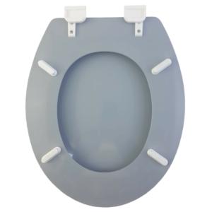 Bath Duck Wc-Ülőke - Mdf - Mintás - Műanyag Zsanérokkal - Fekete Kövek
