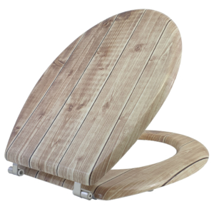 Bath Duck Wc-Ülőke - Mdf - Mintás -Rozsdamentes Acél Zsanérokkal - Board