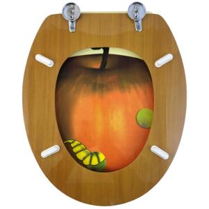 Bath Duck Wc-ülőke - Mdf - Mintás - Cink Zsanérokkal - Apple