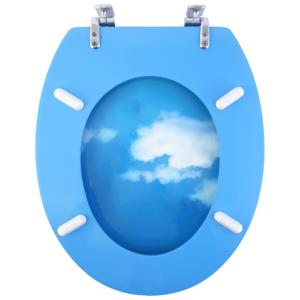 Bath Duck Wc-ülőke - Mdf - Mintás - Cink Zsanérokkal - Felhő