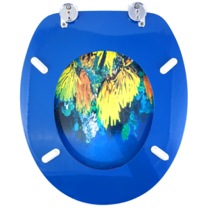 Bath Duck Wc-ülőke - Mdf - Mintás - Cink Zsanérokkal - Korall - 1