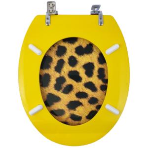 Bath Duck Wc-ülőke - Mdf - Mintás - Cink Zsanérokkal - Leopárd