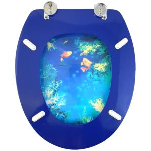 Bath Duck Wc-ülőke - Mdf - Mintás - Cink Zsanérokkal - Mélytenger